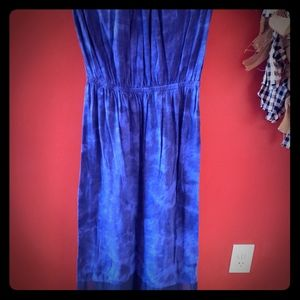 Blue Express maxi with a tie dye print